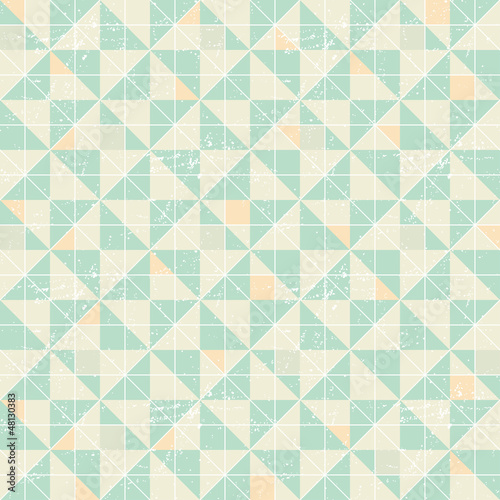 Seamless geometric pattern with origami elements. - 48130383