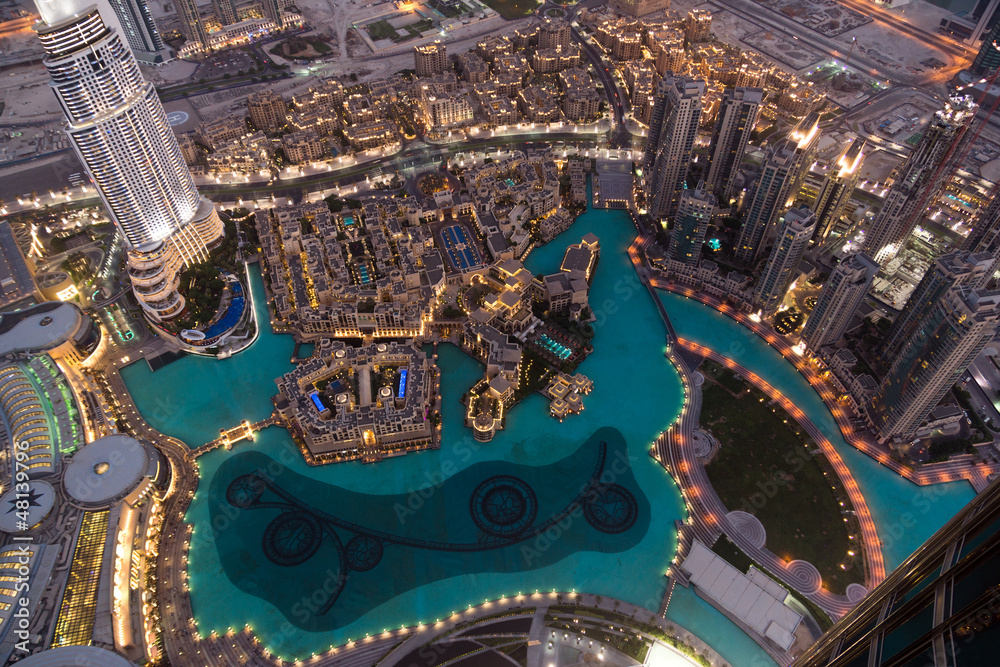 Foto  Dubai Fountain Area from Burj Khalifa