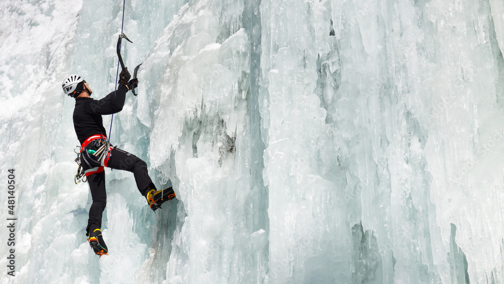 Fototapety, obrazy: Ice Climbing in South Tyrol, Italy