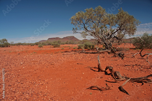 Foto auf AluDibond Ziegel Landschaft - Australien
