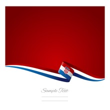 Abstract Color Background Croatian Flag Vector