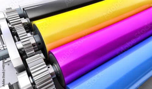 Fotografía  printing  machine