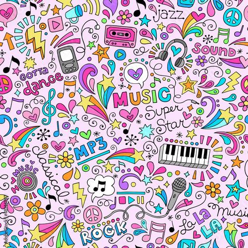 muzyczny-rysunkowy-wzor