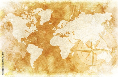 Rustic World Map Poster