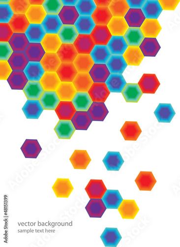Fotografía  abstract background with colorful hexagonal combs