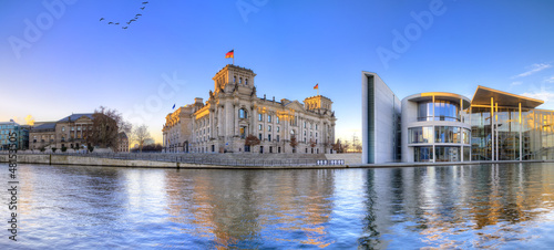 Berliner Reichstag als Panoramafoto Canvas Print