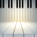 blank surface from piano keys