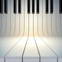 Blank Surface From Piano Keys