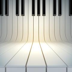 Fototapetablank surface from piano keys