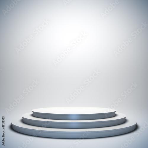 Fotografie, Obraz  White empty stage.