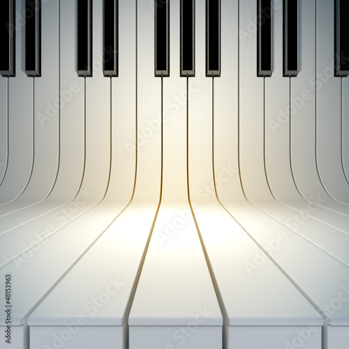 Fototapeta na wymiar blank surface from piano keys