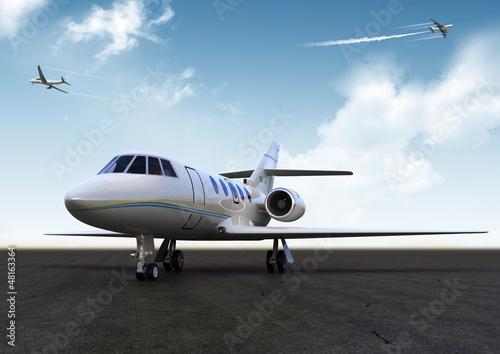Fotografía white private jet