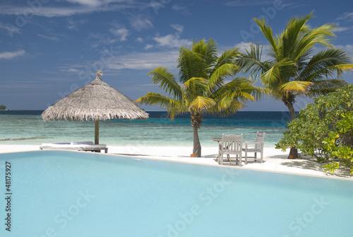 Cadres-photo bureau Tropical plage Maldivian Island