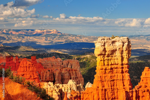 Foto Hoodoo rock formation in Bryce Canyon.