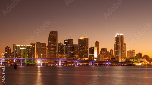 Staande foto Las Vegas Miami at Sunset