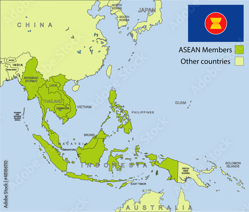 ASEAN organization Wallpaper Mural