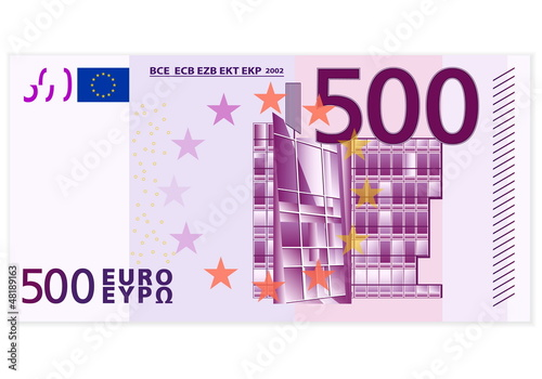 Fotografia  Five hundred euro banknote