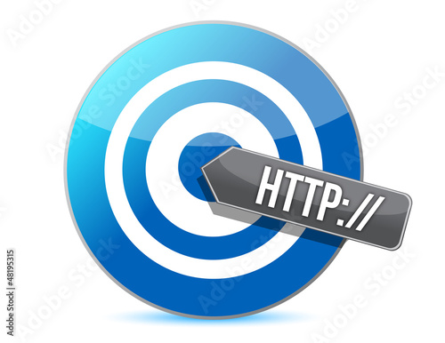"""Photo  arrow and word """" http://"""" target"""
