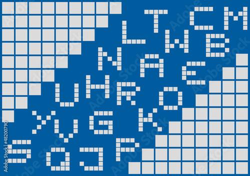 Foto op Aluminium Pixel School font pixel