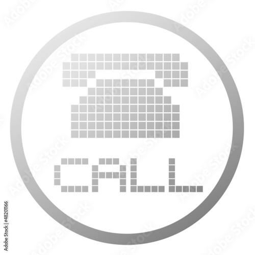 Foto op Aluminium Pixel Phone sign