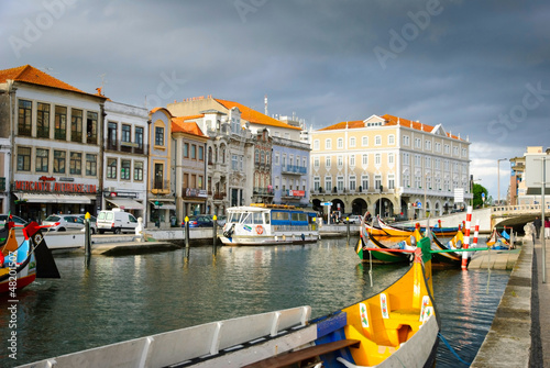 Fotografie, Obraz  Aveiro with typical boats, Portugal