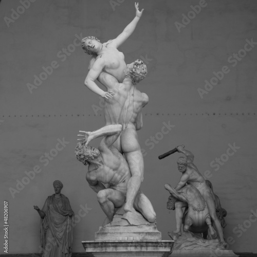 The Rape of the Sabine Women Canvas Print