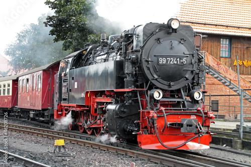 Fototapeta Dampflokomotive der Harzer Schmalspurbahnen obraz na płótnie