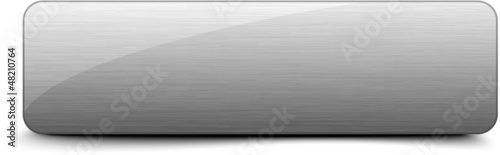 Photo  Aluminium brushed web button