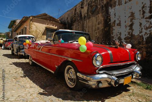 Türaufkleber Autos aus Kuba Vieille automobile, Trinidad, Cuba