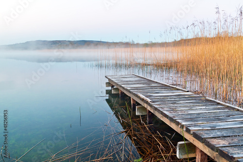 Obraz Irish lake before sunrise - fototapety do salonu