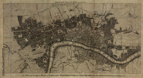 Photo Old London map