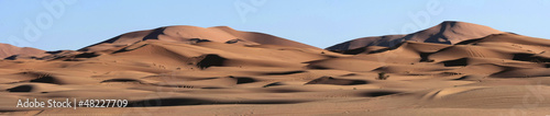 Foto op Canvas Zandwoestijn Sand Dunes Panorma in the Sahara Desert