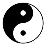 sign with the yin yang symbol