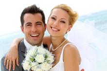 Cheerful Married Couple Standi...
