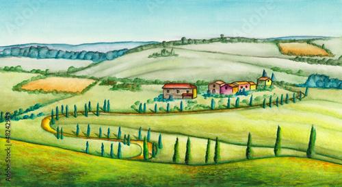 Spoed Foto op Canvas Boerderij Rural landscape