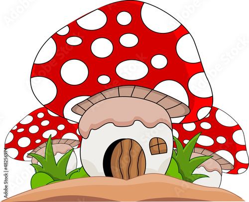 Cadres-photo bureau Monde magique Cartoon mushrooms house
