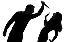 Couple Man Killing Woman  Silhouette