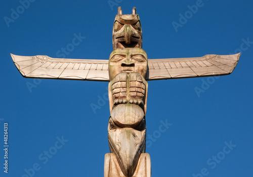 In de dag Indiërs Totem Pole