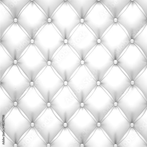 White vector upholstery leather pattern background.