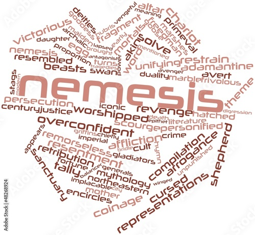 Word cloud for Nemesis Wallpaper Mural