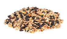 Pile Of Bird Seed Including Sunflower Seeds, Wheat And Maize
