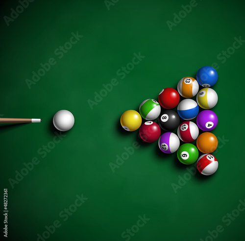 Fotografie, Obraz  Billiard balls