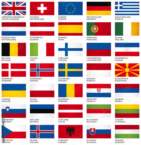 Fotografía  FLAG SET *** Europe