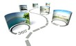 canvas print picture - Virtual tour, 360 degrees panoramas