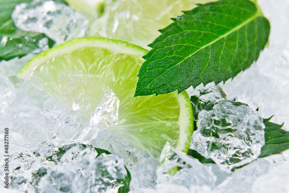 Fototapety, obrazy: lime and peppermint