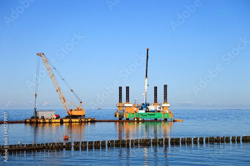 Fotografia, Obraz  Floating dredging platform