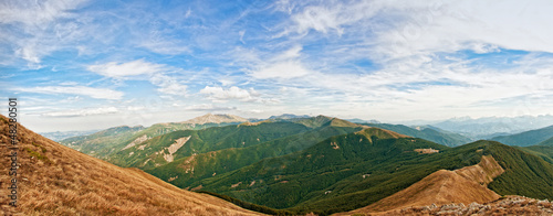 Spoed Foto op Canvas Zuid-Amerika land panoramic view of Appennino Reggiano in the north of Italy