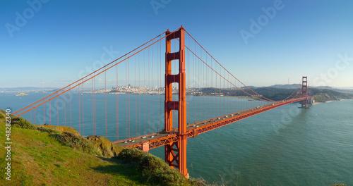 Poster Lieux connus d Amérique San Francisco Golden Gate Bridge Panoramic