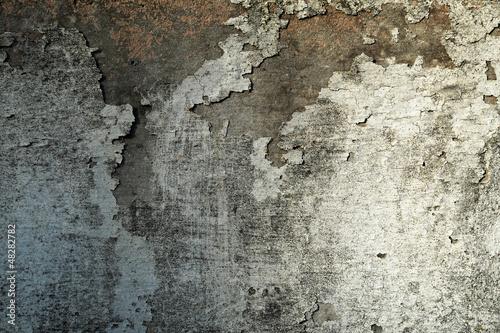 Foto auf AluDibond Alte schmutzig texturierte wand Grungy peeling plaster wall