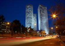 Tel Aviv Night Cityscape, Israel